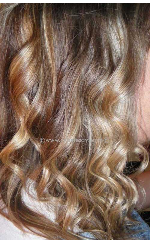 Curls-with-NuMe-Curling-Wand-clamp-less-curling-iron