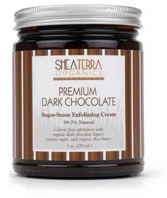 Shea-Terra-Premium-Dark-Chocolate-Sugar-Stone-Exfoliating-Cream