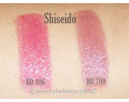 Shiseido-Shimmering-Rouge-swatches