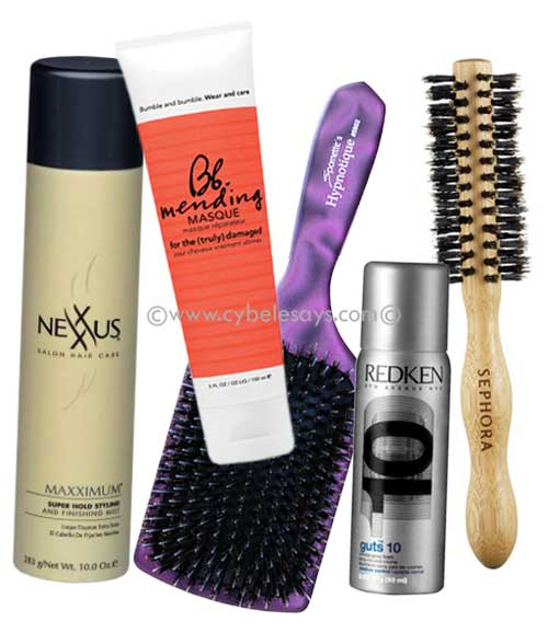 Nexxus-Bumble-and-Bumble-Redken-Spornette-Sephora-hair-care-brushes