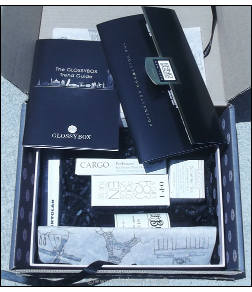 Glossybox-inside-products-laying-down