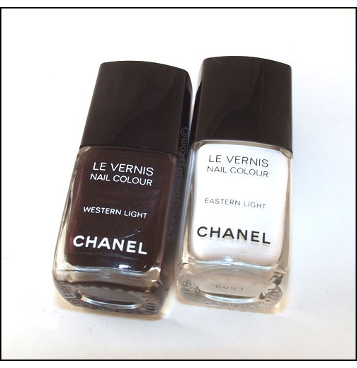 Chanel-Hong-Kong-Collection-Le-Vernis-Nail-Polish-in-Eastern-Light-and-Western-Light-laying-down