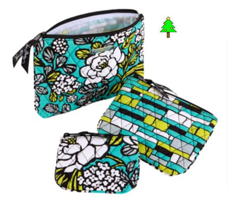 Vera-Bradley-Cosmetic-Trio-in-Island-Blooms