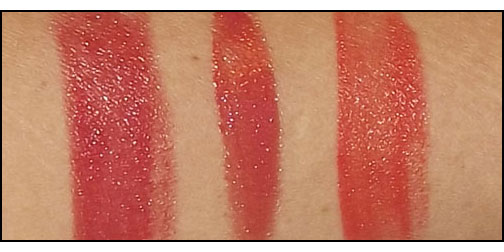 Shiseido-Perfect-Rouge-Tender-Sheer-in-RD-506-Perfect-Rouge-in-OR-544-Lacquer-Rouge-RD-309-swatches