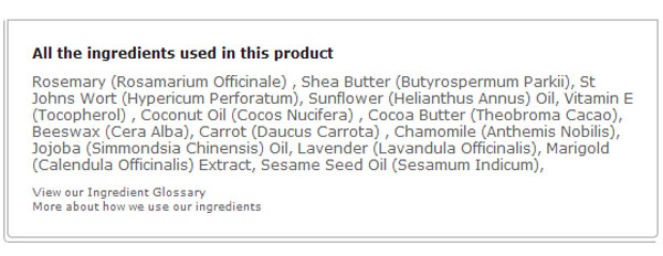 The-Organic-Pharmacy-Carrot-Butter-Cleanser-ingredients