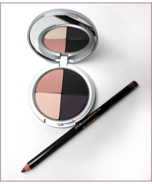 Votre-Vu-Eye-Shadow-Quad-Palette-in-Violette-and-Dolce-&-Gabbana-The-Kohl-Pencil-in-Dahlia-2