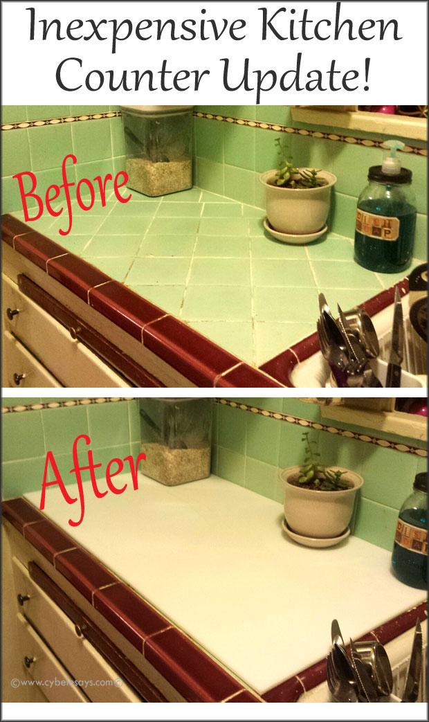 Inexpensive-kitchen-counter-update