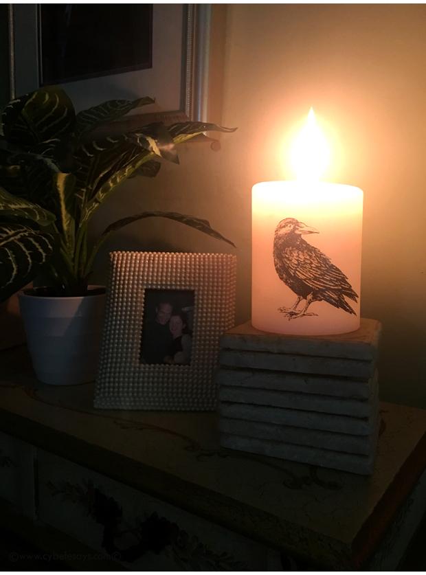 Lucid-Candle-on-desk-at-dusk