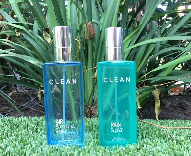 Clean-Air-&-Coconut-Eater-and-Rain-&-Pear-fragrances-on-the-grass-2