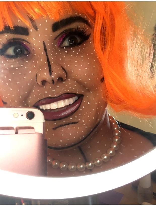 Final-Halloween-comic-book-makeup-look-2