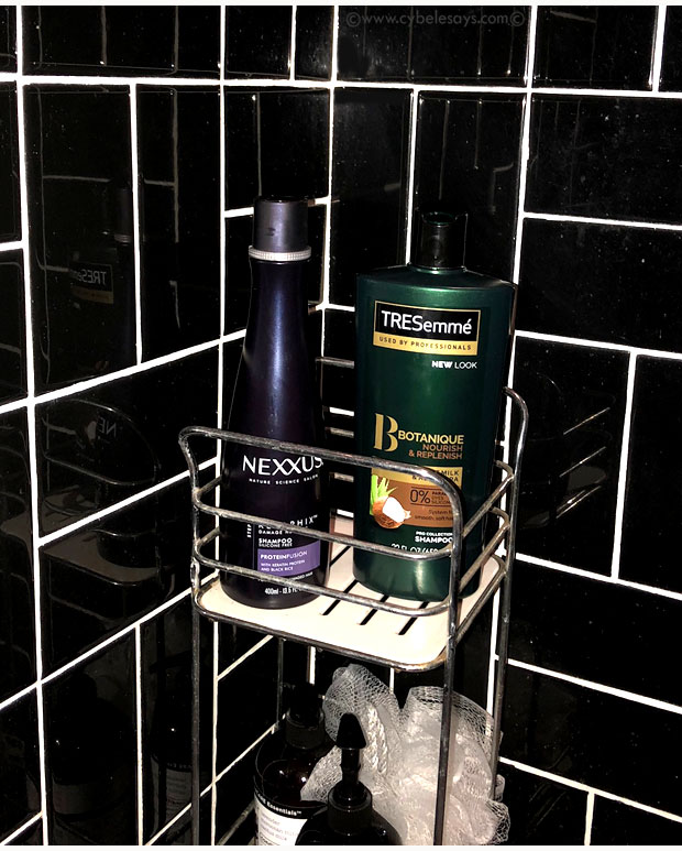 Nexxus-and-TRESemme-in-the-shower
