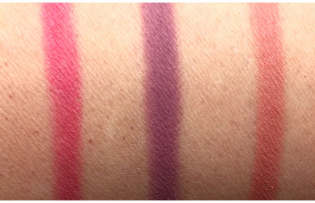 NARS-Velvet-Matte-Lip-Pencils-swatches-in-Let's-Go-Crazy-Pussy-Control-and-Intriguing