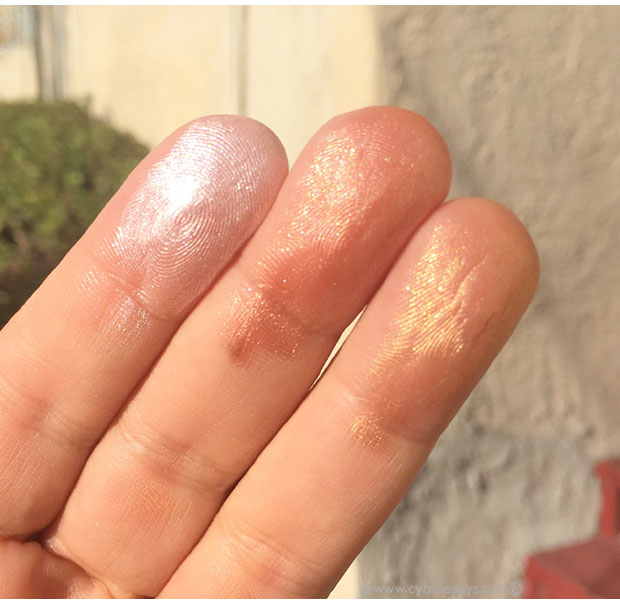 Maybelline-Master-Strobing-Liquid-Illuminating-Highlighter-swatches-on-fingers