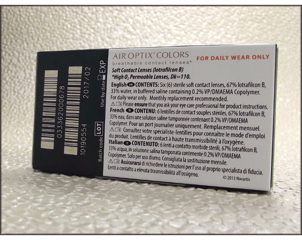 A few review of the ALCON AIR OPTIX COLORS contact lenses. They use a 3-in-1 color technology that's able to blend with your own eye color so it looks natural.