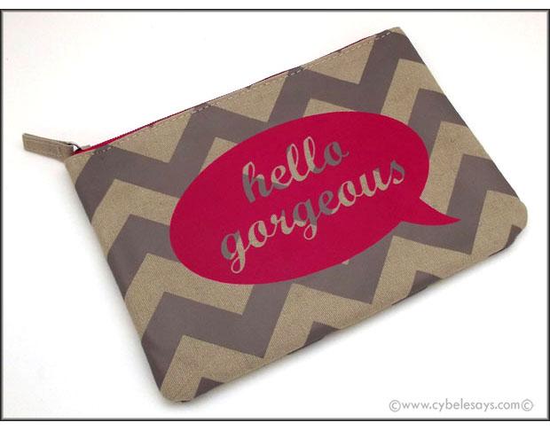 BAMKO-'Hello-Gorgeous'-Flat-Pouch-Cosmetics-Bag