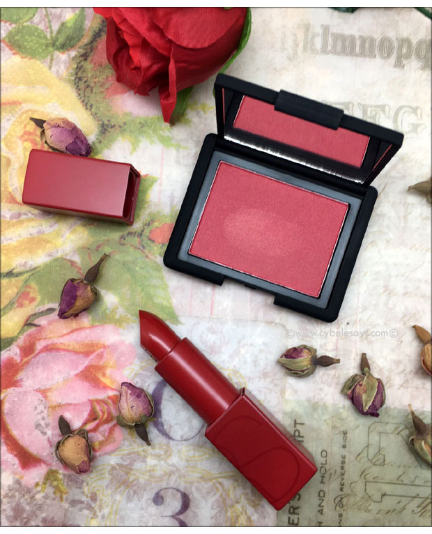 NARS-Blush-in-Impudique-and-Audacious-Lipstick-in-Rita