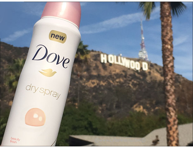 Dove-Dry-Spray-Antiperspirant-and-the-Hollywood-sign