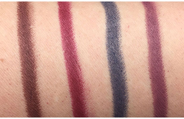 NARS-Velvet-Matte-Lip-Pencils-swatches-Lonely-Heart-Endangered-Red-Unspoken-Dirty-Mind