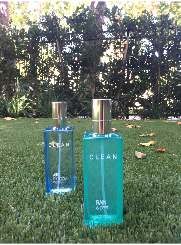 Clean-Air-&-Coconut-Eater-and-Rain-&-Pear-fragrances-on-the-grass