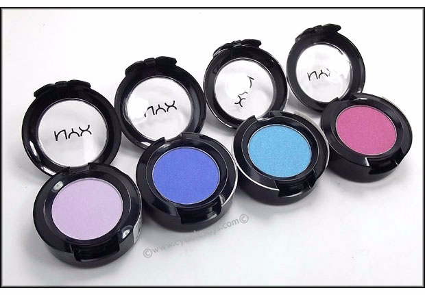 Review+Swatches - #NYXCosmetics Hot Singles Eye Shadow with Cybele Says. A complete review and in-depth look at the swatches for each shadow.