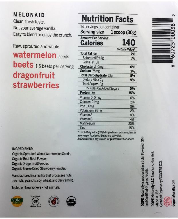 Dope-Naturally-Melonaid-Protein-Powder-ingredients