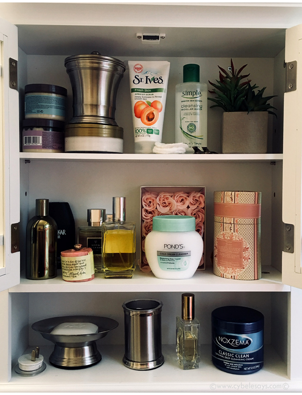 Shelfie-with-St-Ives-Apricot-Scrub-Pond's-Cold-Cream-SimpleMicellar-Water-and-Noxema-Original-Deep-Cleansing-Cream