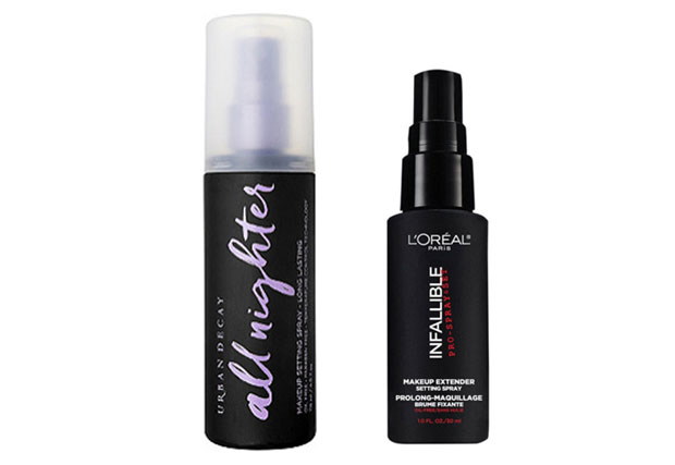 Urban-Decay-All-Nighter-and-L'Oreal-Infallible-Setting-Sprays