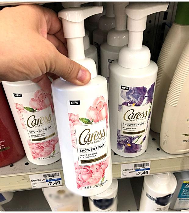 Caress-Shower-Foam-in-White-Orchid-&-Coconut-Milk-on-CVS-shelf