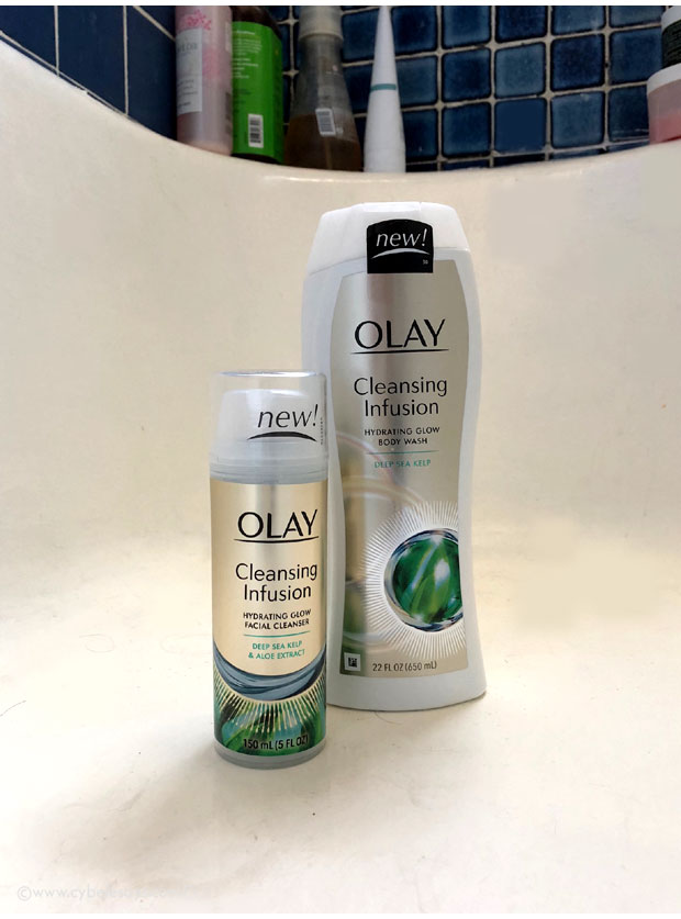 Olay-Cleansing-Infusions-Body-Wash-and-Facial-Cleanser-in-tub