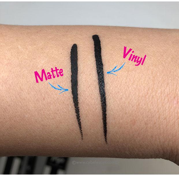 Nyx-Cosmetics-Matte-Liquid-Liner-and-Vinyl-Liquid-Liner-swatches
