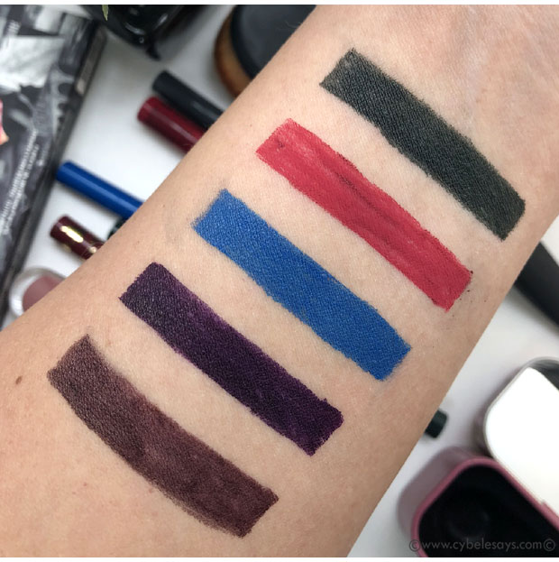 5-swatches-of-non-black-liquid-eyeliners