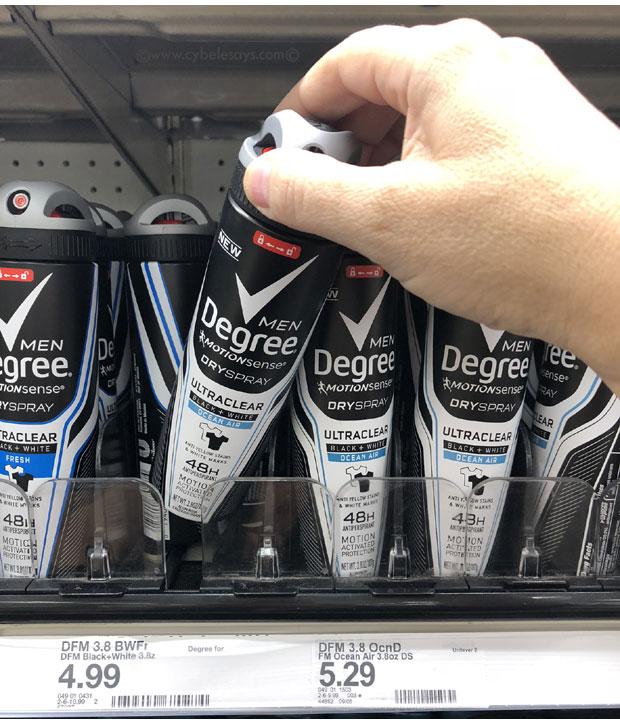 Men's-Degree-DrySpray-on-the-Target-Shelf