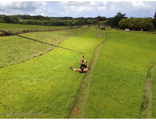 Zip-lining-in-Kauai