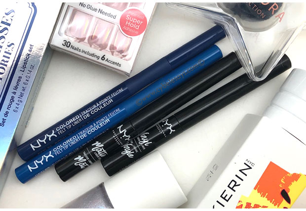 Nyx-Cosmetics-Matte-Liquid-Liner-and-Vinyl-Liquid-Liner-with-other-products