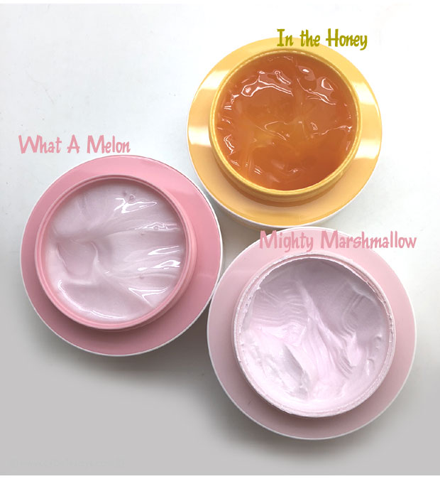 Bliss-Mighty-Marshmallow-In-the-Honey-and-What-a-Melon-face-mask-insides