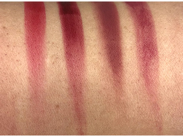 Kaja-Cushy-Vibe-High-Pigment-Lip-Stains-swatches-smudged