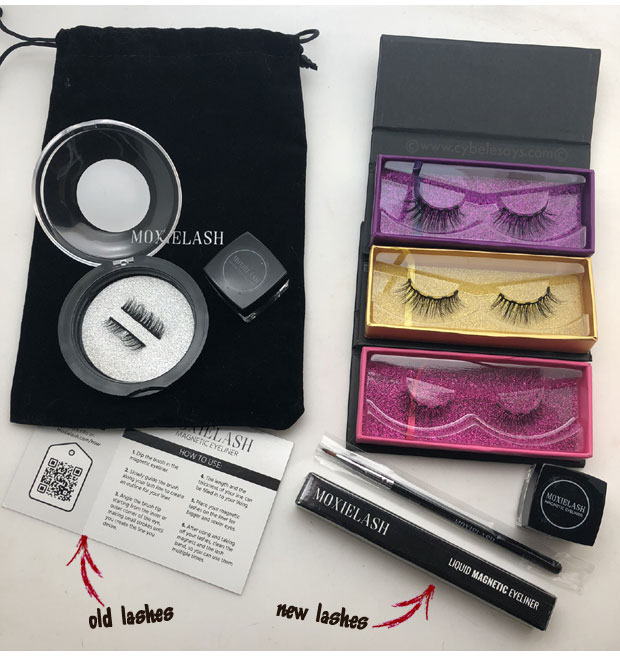 MoxieLash-old-lash-set-and-new-magnetic-lash-set
